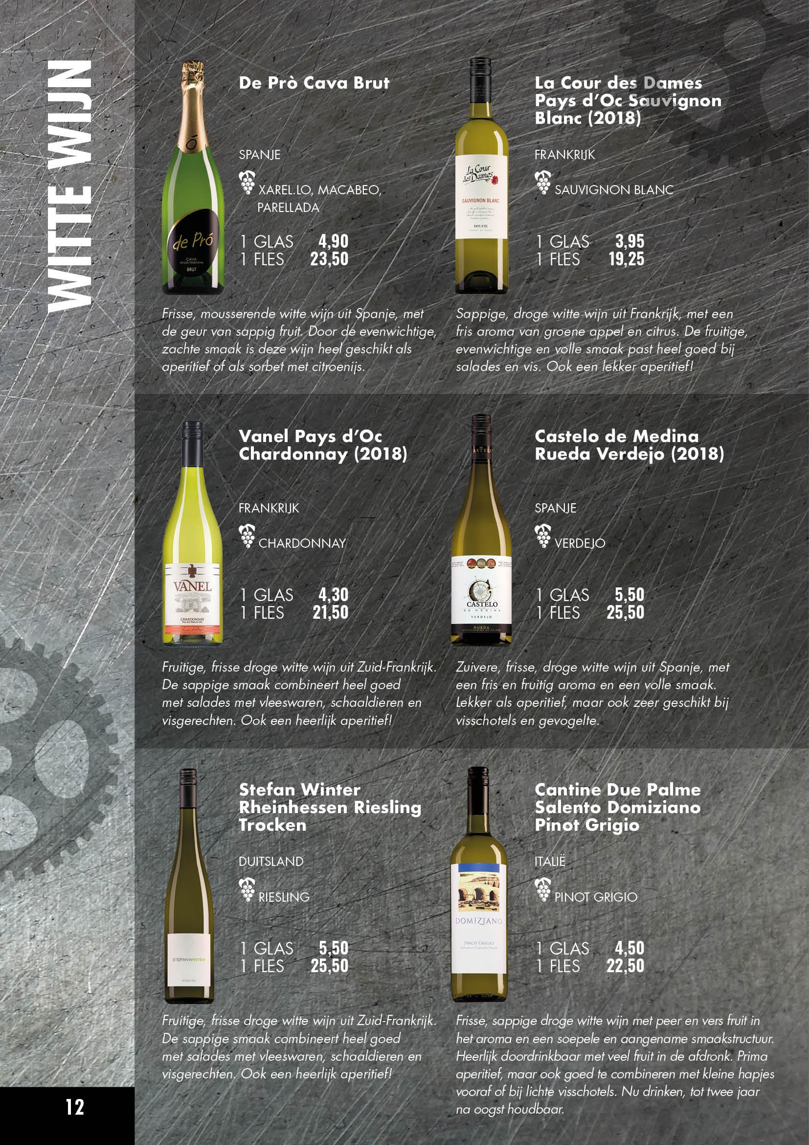 Hollywood Café Amsterdam Wijnkaart pagina 11